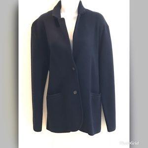 Navy blue Wool knit blazer by J.Crew
